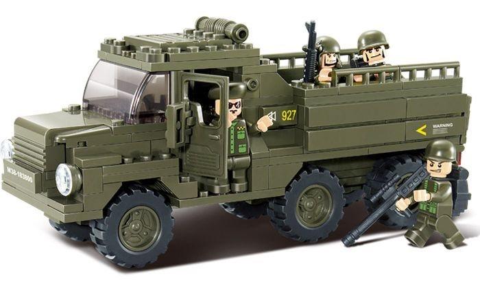 Stavebnice SLUBAN Vozidlo pro transport vojáků