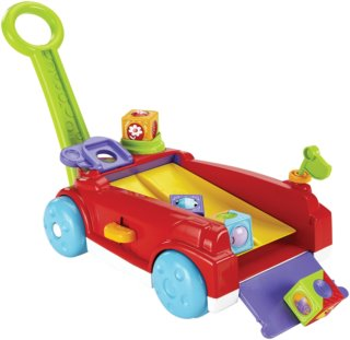 FISHER-PRICE - Vozík s kostkami