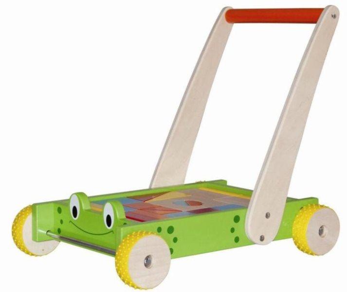 WOODY, Vozík s kostkami: Žába