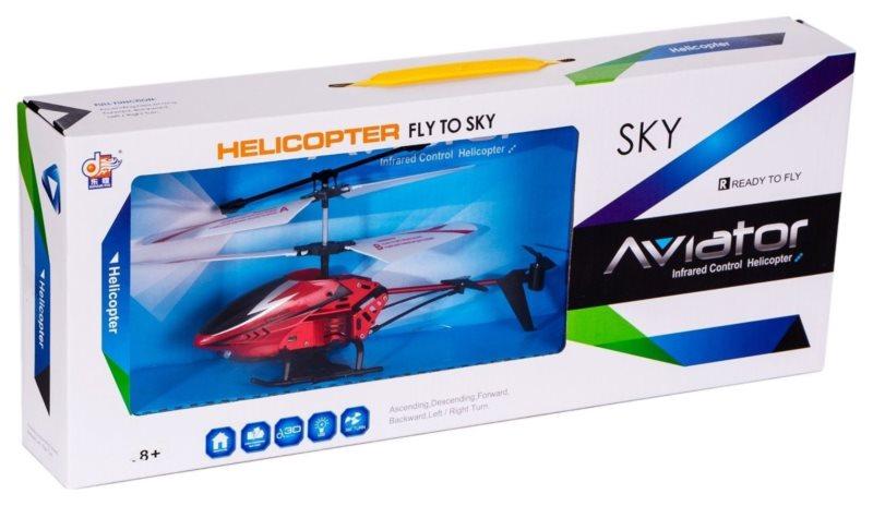 MAC TOYS Vrtulník s gyroskopem - červený