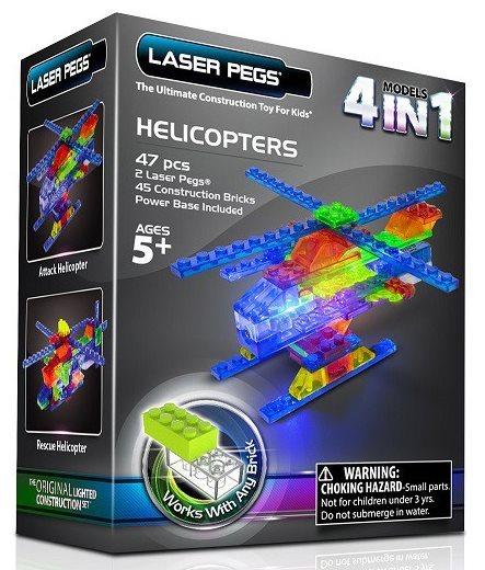 Svítící stavebnice LASER PEGS Vrtulníky 4v1