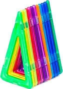 Magnetická stavebnice MAGFORMERS Vysoké trojúhelníky 12 kusů