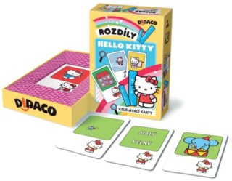 BONAPARTE - Didaco - Vzdělávací karty - Hodiny Hello Kitty