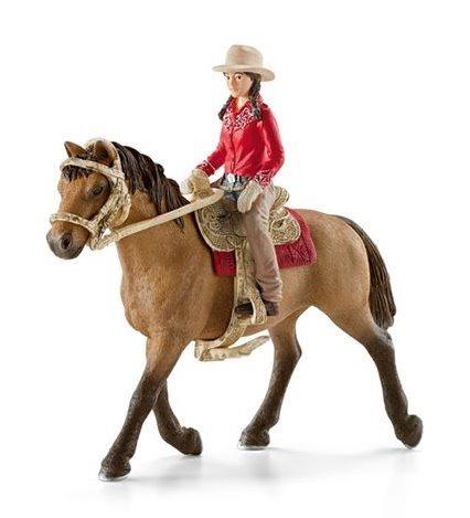 SCHLEICH 42112 Westernová jezdkyně na koni