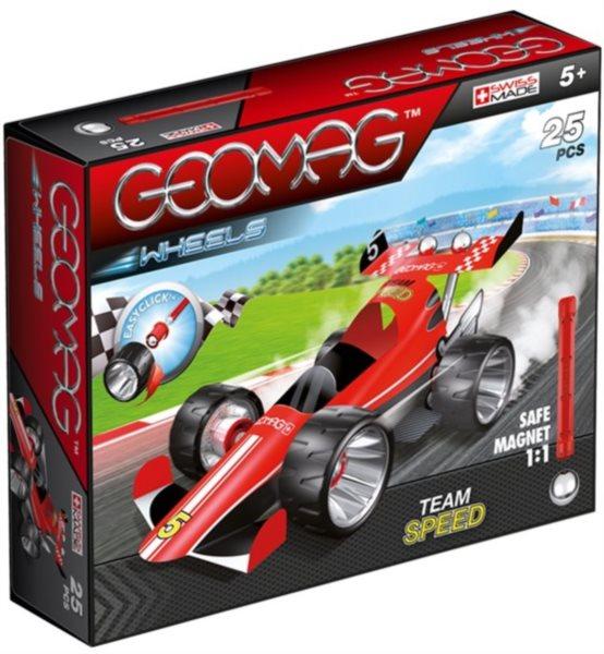 Magnetická stavebnice GEOMAG - Wheels 710 - Formule (červená)