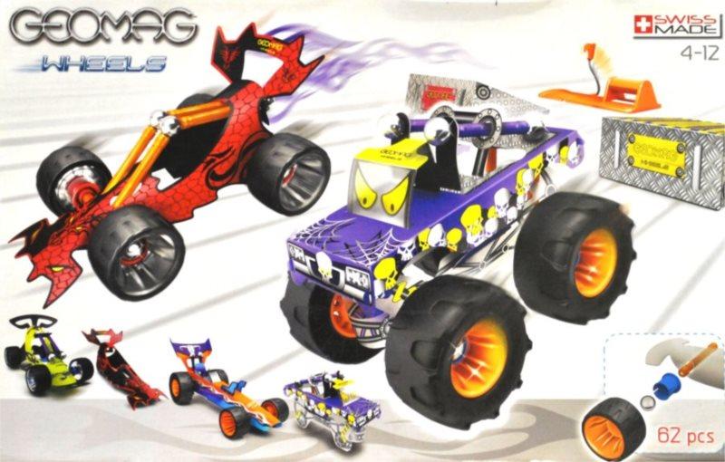 Magnetická stavebnice GEOMAG Wheels Race Large - Formule a čtyřkolka