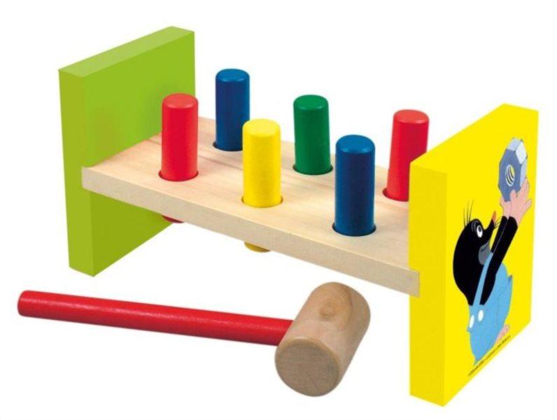 Dětská dřevěná zatloukačka Krteček - BINO 13731