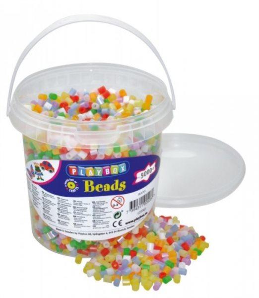PLAYBOX Zažehlovací korálky - perleťové barvy 5000 ks