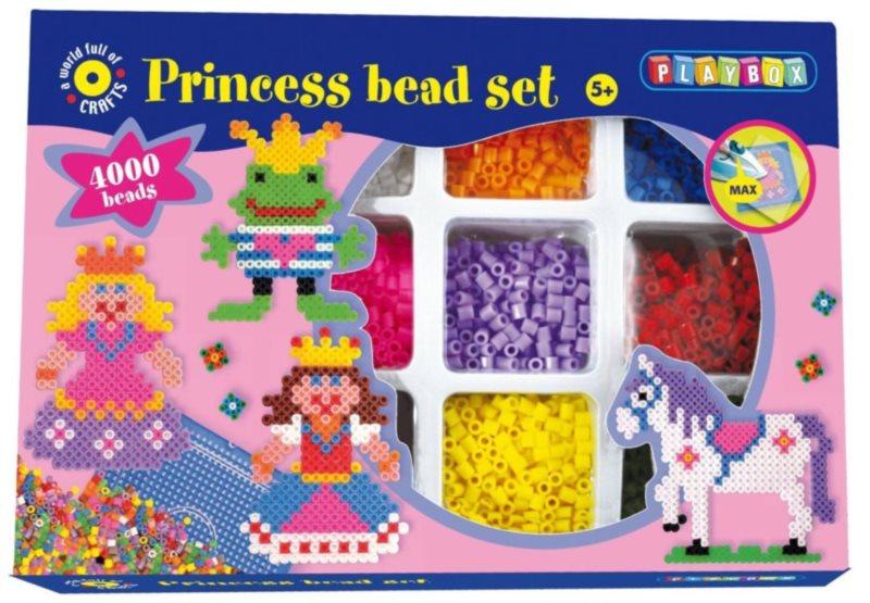 PLAYBOX Zažehlovací korálky Princezny 4000 ks
