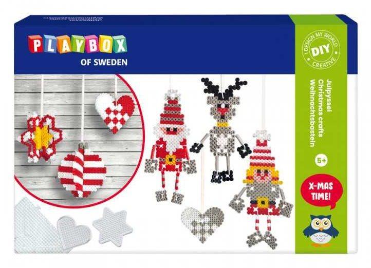 PLAYBOX Zažehlovací korálky Vánoční ozdoby 3D, 4000ks