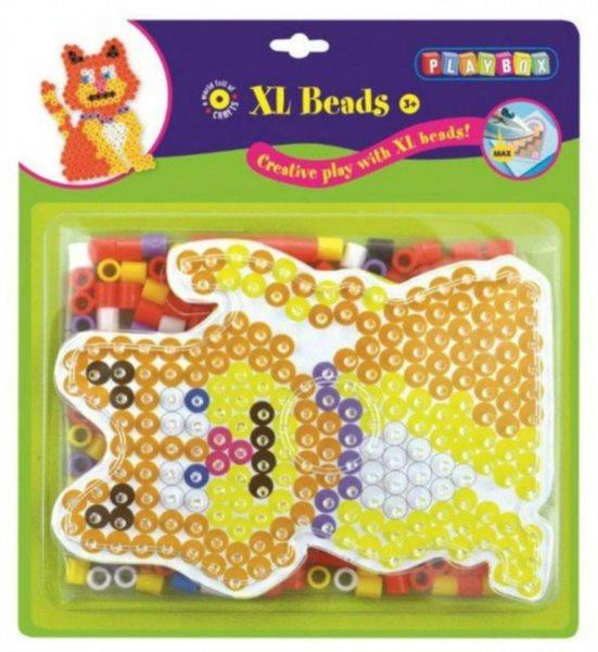 PLAYBOX Zažehlovací korálky XL - Kočka 265 ks
