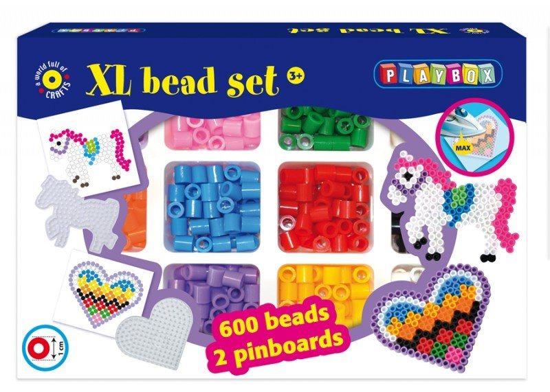 PLAYBOX Zažehlovací korálky XL - Srdce a koník 600 ks