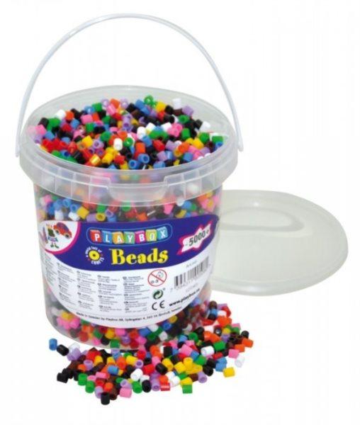 PLAYBOX Zažehlovací korálky - základní barvy 5000 ks