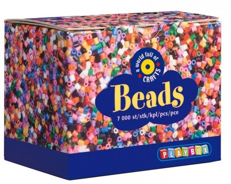 PLAYBOX Zažehlovací korálky - základní barvy 7000 ks