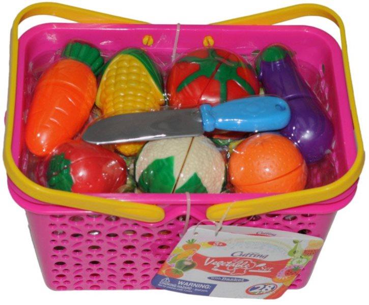 Zelenina v nákupním košíku 28 ks