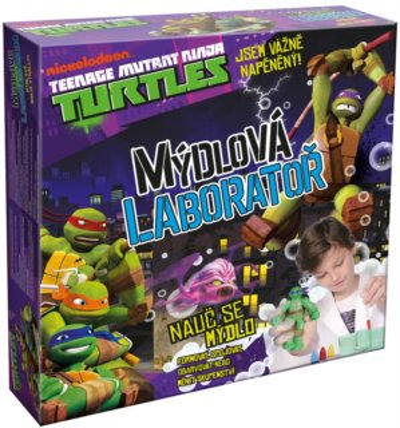 Kreativní sada Želvy Ninja - Mýdlová laboratoř, ALBI