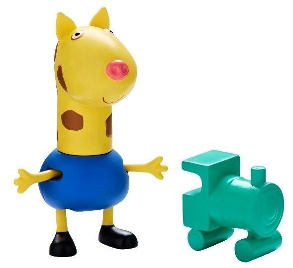 Žirafa Gerald s vláčkem