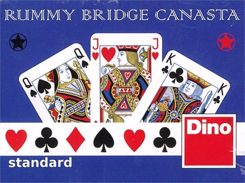 Hrací karty Žolík (Kanasta) - Klasický motiv, DINO