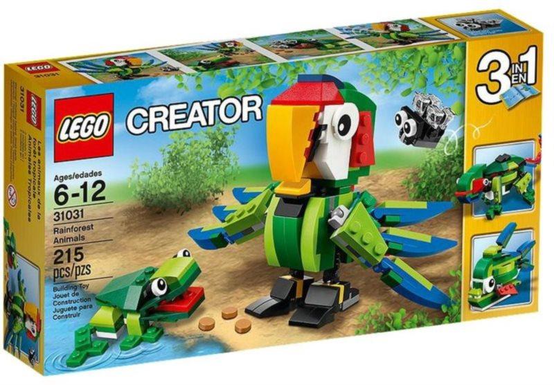 Stavebnice LEGO® Creator 31031 Zvířata z deštného pralesa