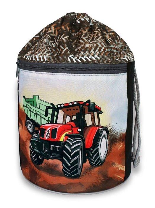 EMIPO Kulatý vak na záda 34x23cm Traktor  6741a2e036