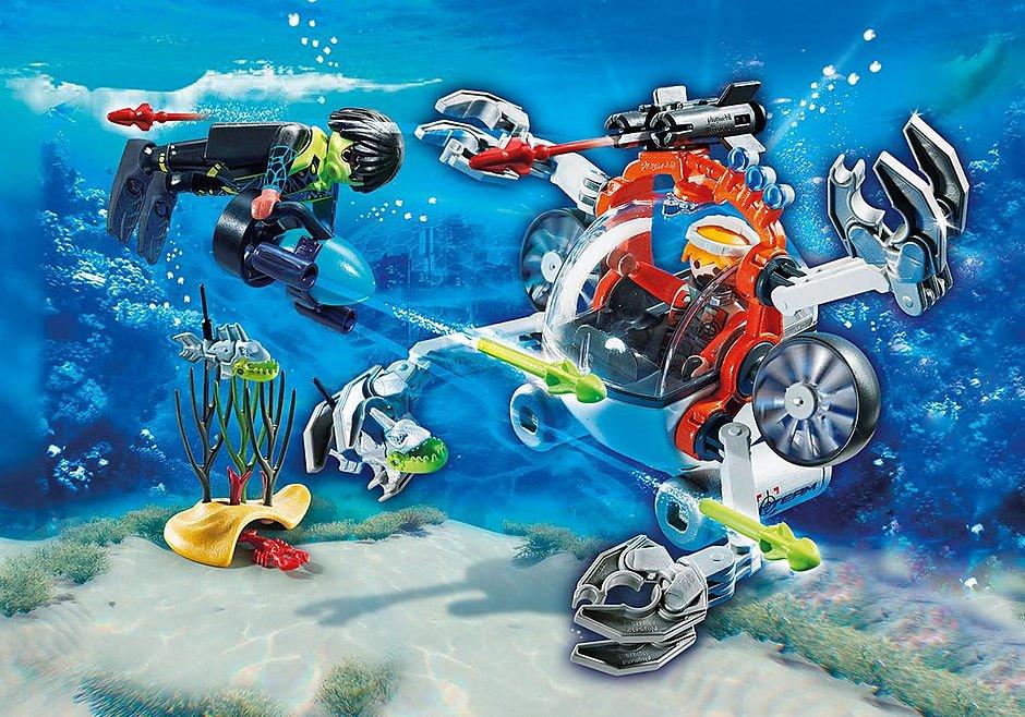 playmobil® top agents 70003 spy team ponorka  stavebnice