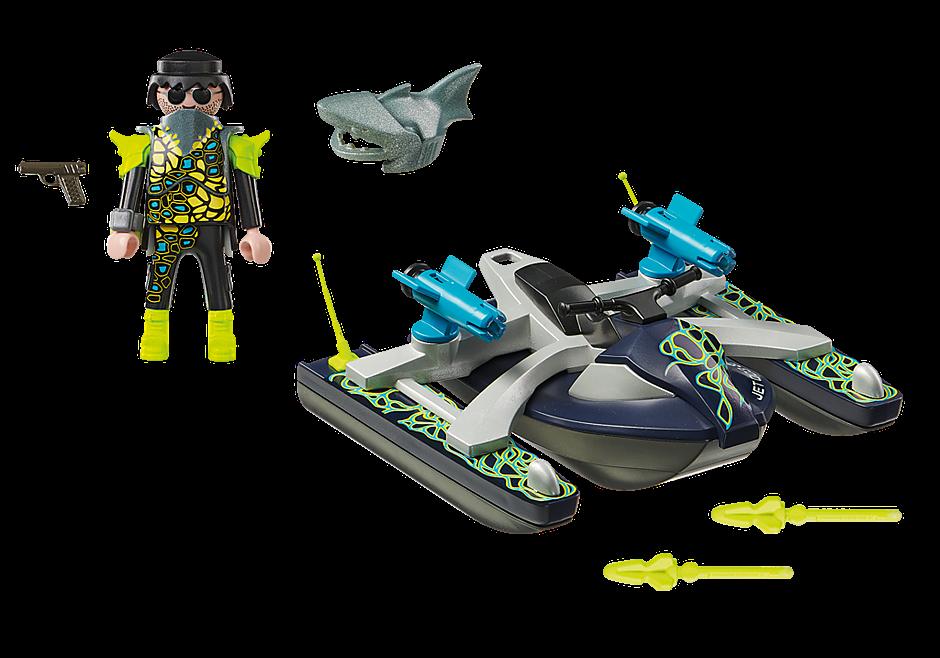 playmobil® top agents 70007 team shark raketový skútr