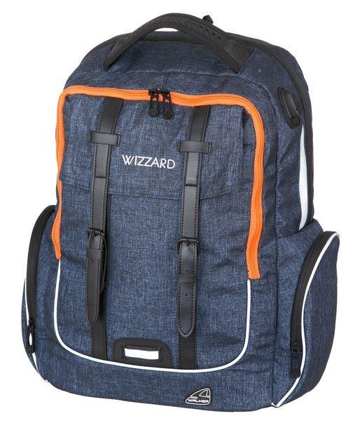 WALKER Školní batoh ACADEMY WIZZARD Dark Blue Melange  b049118b43