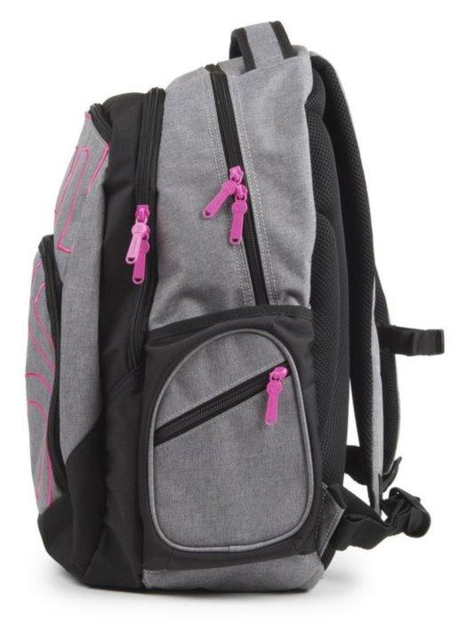 077fbdf2db5 OXYBAG Školní batoh Style Grey Line Pink
