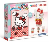 Puzzle Hello Kitty 104 dílků a 3D puzzle Hello Kitty